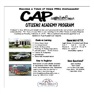 Citizens Academy flyer February 2020