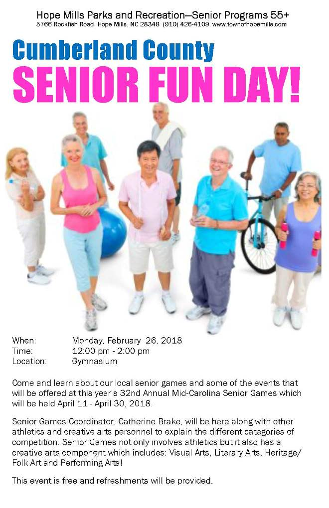 Senior Games Senior Fun Day 2018