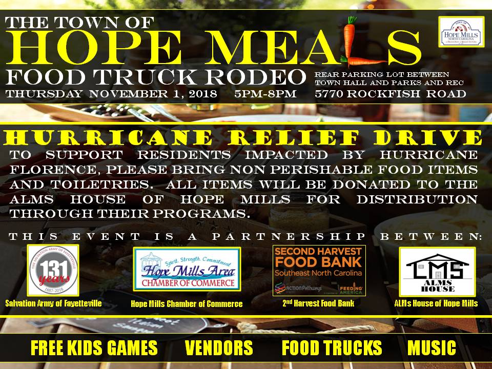 Hope Meals Food Truck Events Hope Mills Nc Official Website