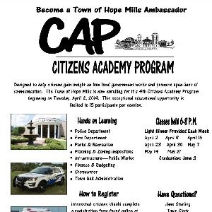Citizens Academy flyer April 2019