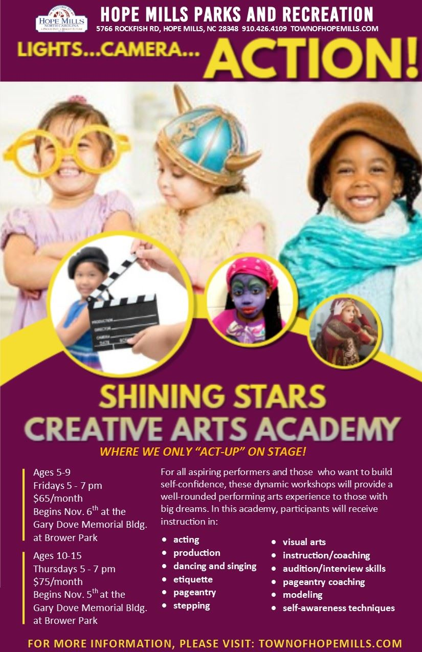 Shining Stars Academy Flyer October 2020