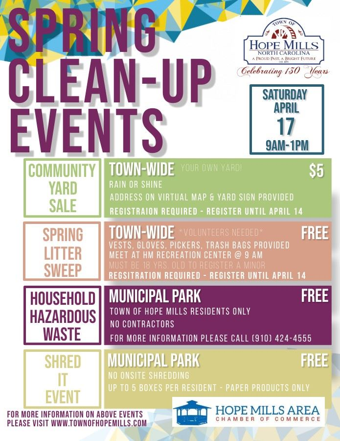 2021 Spring Clean Up Events Flyer