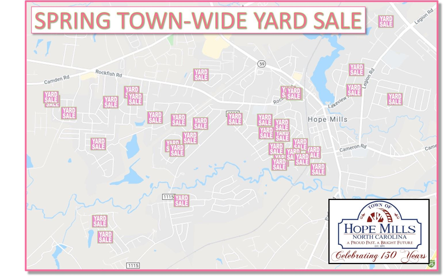 Town Wide Yard Sale Map Photo